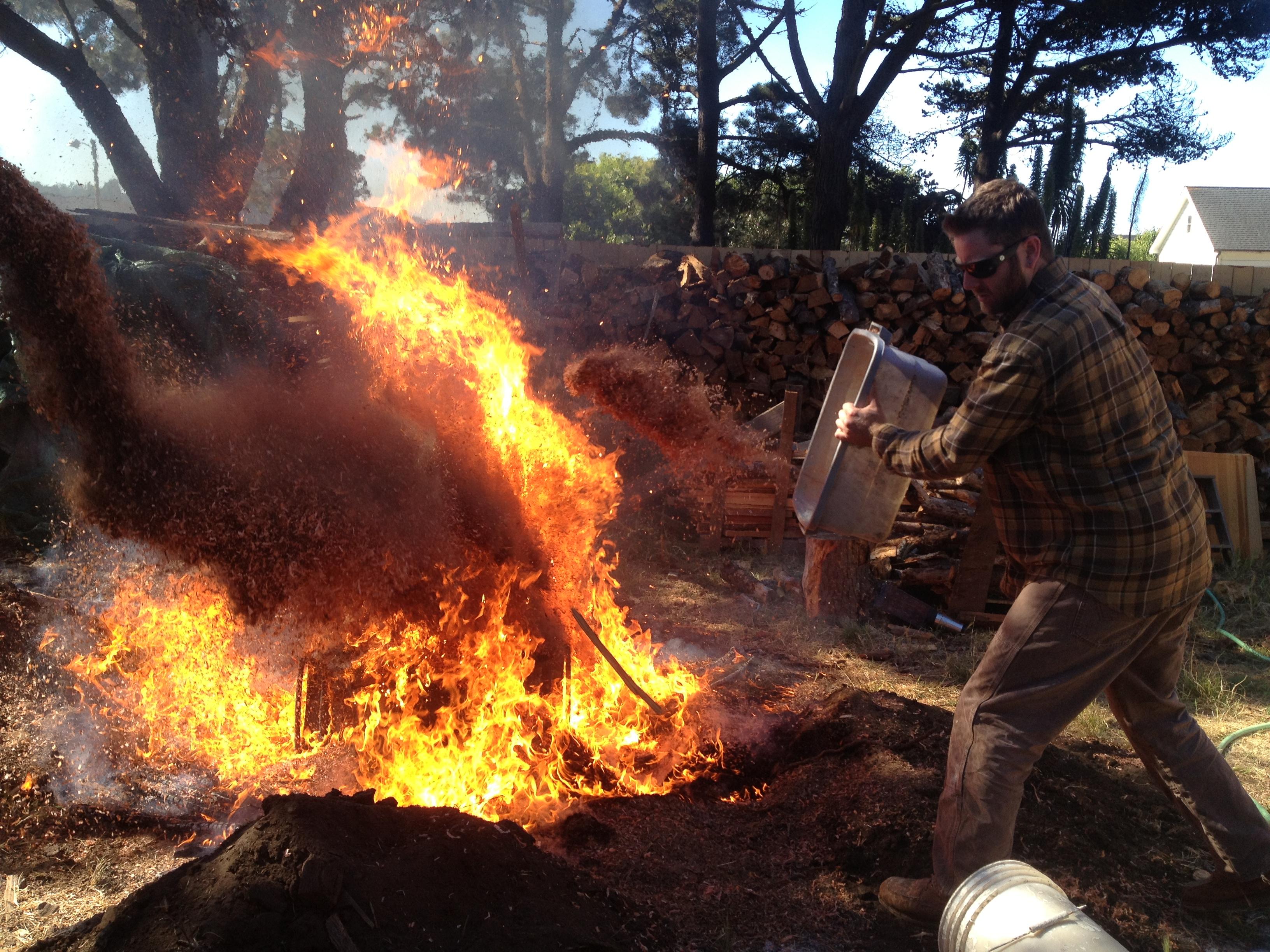 Sawdust firing