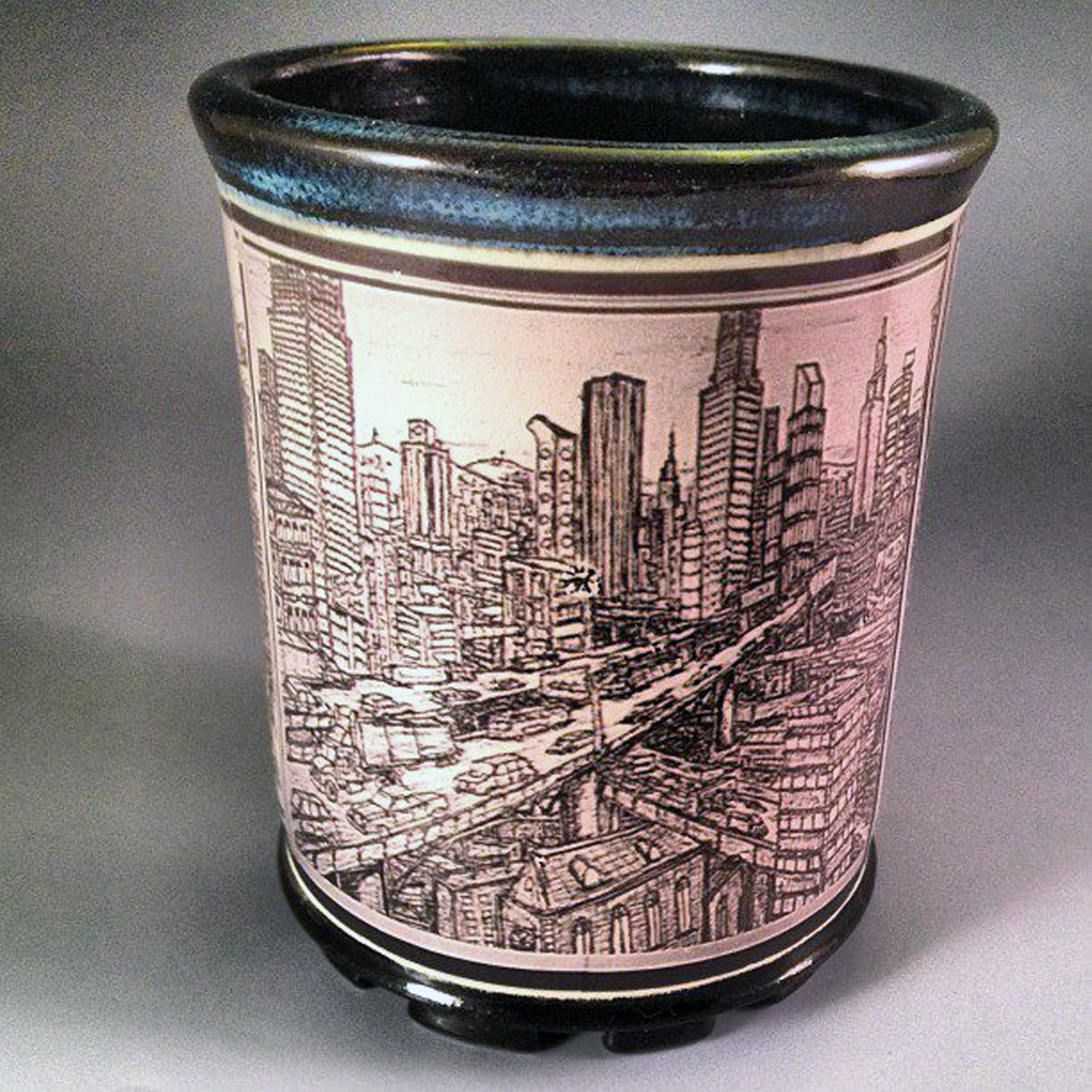 Ceramic decal tumbler