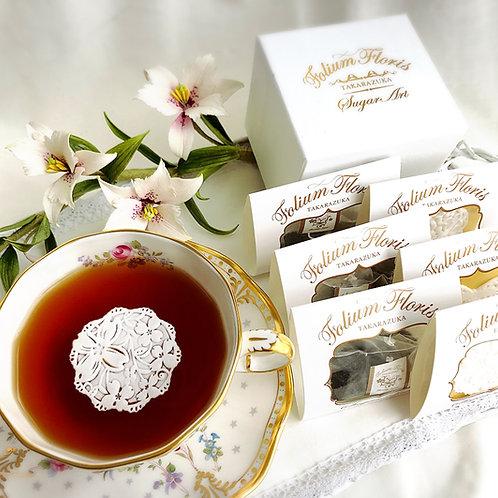 シュガーレース3枚 紅茶3袋