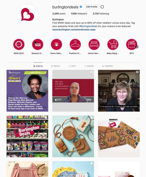 Fortune 500 Retailer Instagram Content