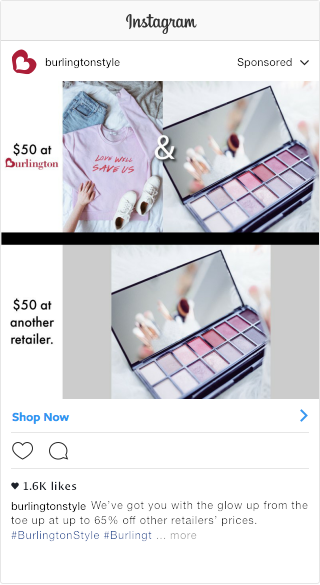 Sample Product Promotion Post for Off-Price Retailer