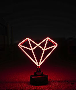 Geometric Heart Neon Light From Confetti Dreams Neon Signs
