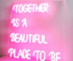 Together is a Beautiful Place to Be Neon Light from Confetti Dreams Neon Signs