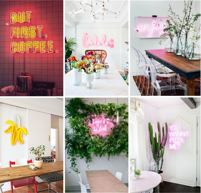 [Inspiration] Neon-Spiration for your Home