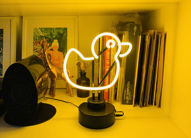 Giveaway! Standing Glass Neon Lights