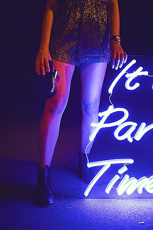 It's Party Time Neon Sign by Confetti Dreams