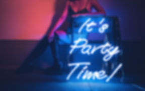 It's Party Time Neon Sign from Confetti Dreams Neon