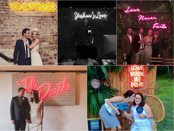[New Trend] Neon Signs at Weddings
