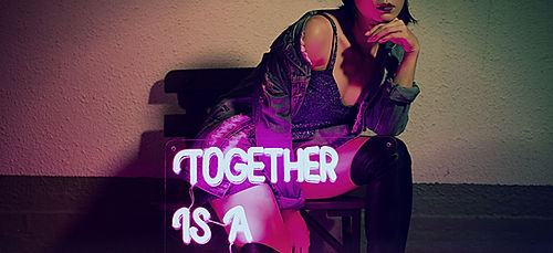 Together is a Beautiful Place to Be Neon Sign by Confetti Dreams