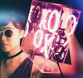 XOXO Glass Neon Sign in Pink by Confetti Dreams