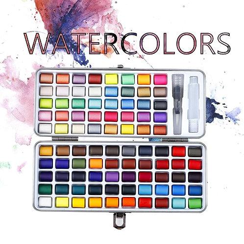 Professional 50/72/90 Color Solid Watercolor Sets