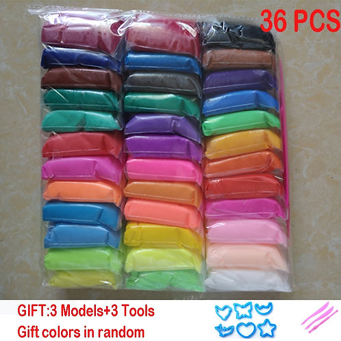 12/24/36pcs/Set  Safe and Nontoxic Malleable Polymer Clay