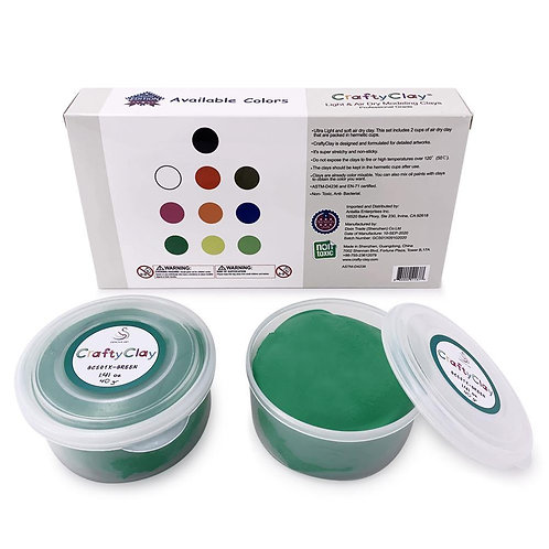 GREEN Air Dry Art Clay