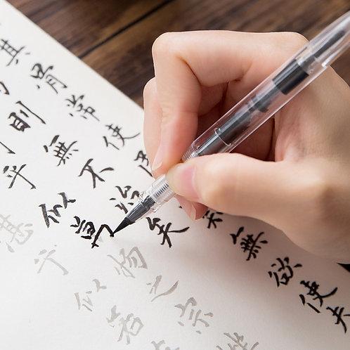 Crystal Refillable Calligraphy Fountain Pen