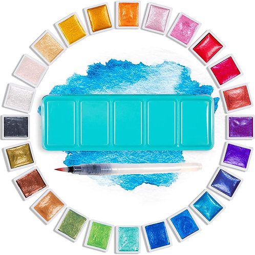 Professional 12/24/48 Pearlescent Watercolor Set