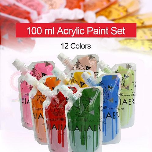 CALAFO 12 Color Acrylic Paint Set