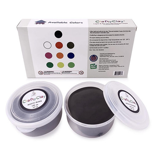 BLACK Air Dry Art Clay