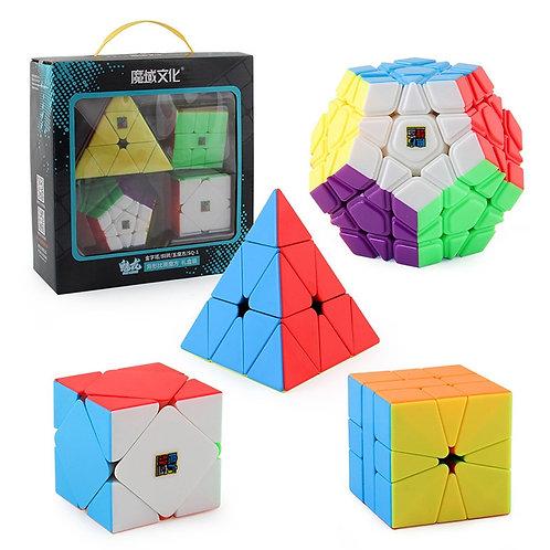 4pcs Speed Cube Set Skew Pyraminx SQ1 Megaminx