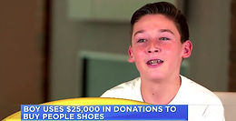Texas Teen Gives Away All Bar Mitzvah Money ($25,000) To Charity By Buying 800 Pairs Of Shoes