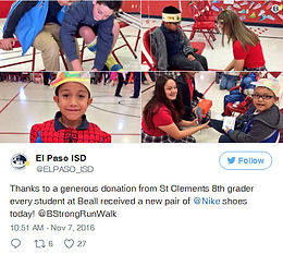 Kind sole: El Paso teen donates $25K to buy shoes for kids