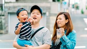 家族写真 元気いっぱい 男の子 家族 日常 スナップ フイルム写真 フイルムカメラ
