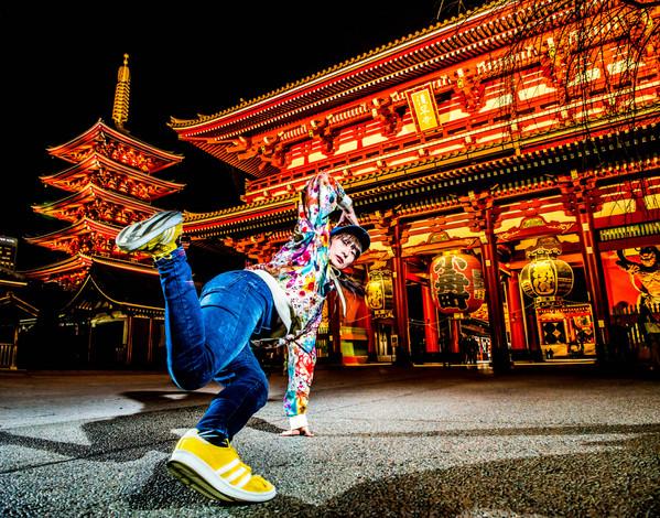 東京 浅草 浅草寺 ダンス 写真 出張 撮影 カメラマン 宣材 アーティスト写真 アー写 bgirl ブレイクダンス ブレイキン ヒップホップ ダンス