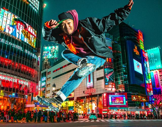 東京 渋谷 スクランブル交差点 ヒップホップ グラフィティー ウォールペイント ブレイクダンス bboy ブレイキン プロフィール アー写 画像 写真 撮影 カメラマン 写真家 フォトグラファー ARIYA