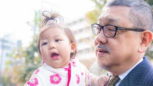おじいちゃん 愛娘 女の子 七五三 スナップ 写真 出張 撮影 氷川神社