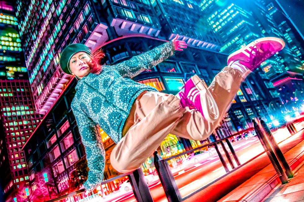 東京駅 シティーポップ グラフィティー ウォールペイント ブレイクダンス ヒップホップ bgirl 画像 写真 撮影 カメラマン 写真家 フォトグラファー