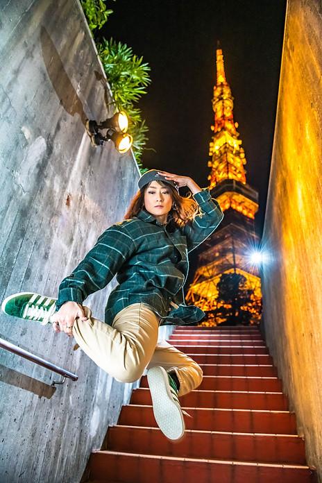 東京 タワー ライトアップ ブレイクダンス ヒップホップ bboy bgirl プロフィール アー写 宣材 プロフィール 画像 ブレイキン 写真 撮影 カメラマン 写真家 フォトグラファー