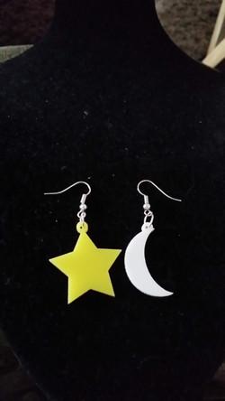 Moon and Star Earrings