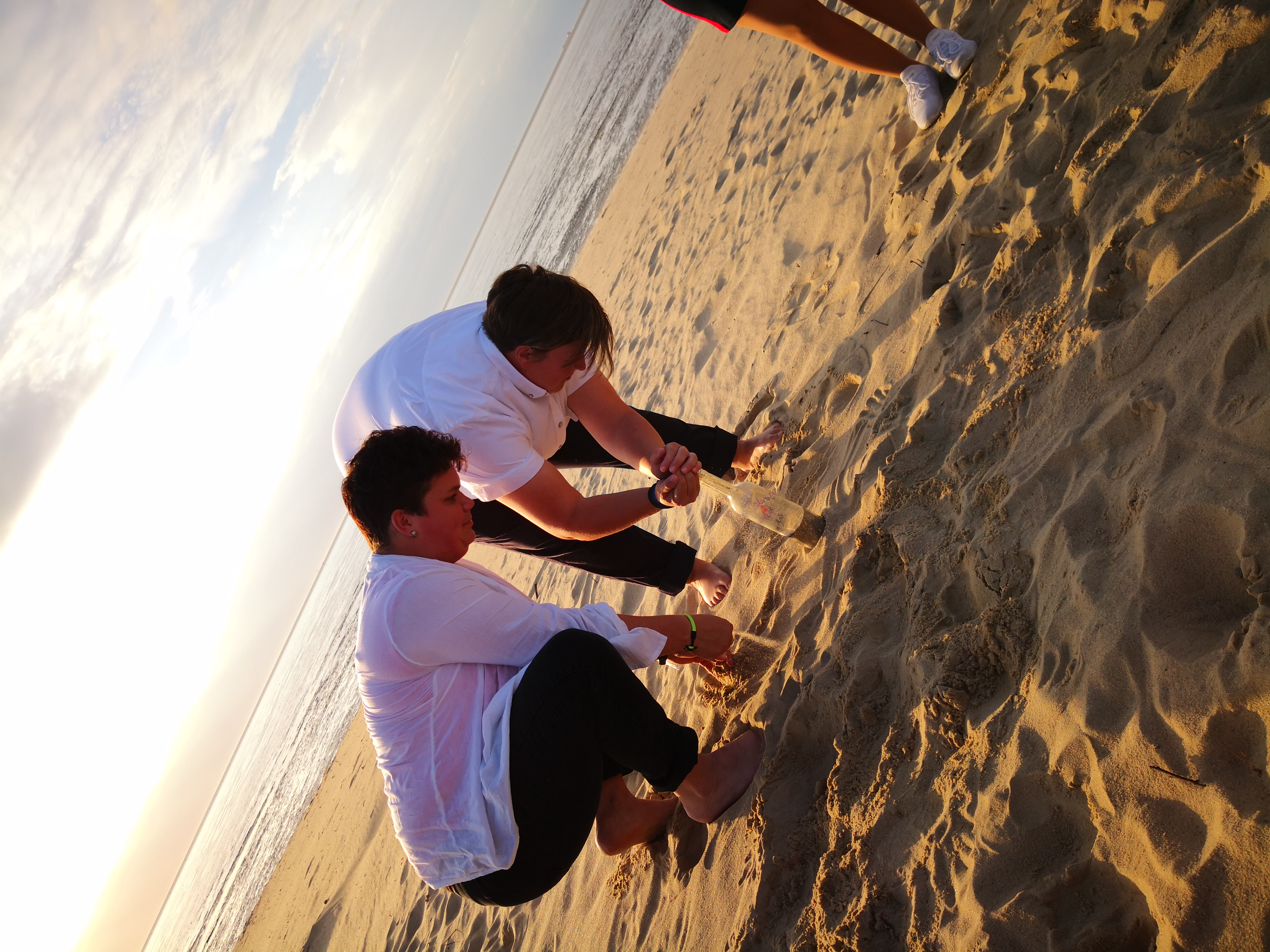 Sand Ritual am Strand