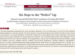 "6 Steps to the ""Perfect"" Lip"