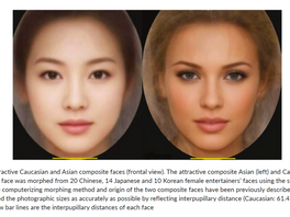 Differences between Caucasian and Asian Attractive Faces
