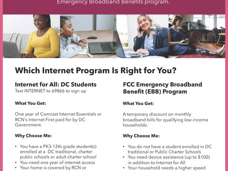 Internet Access Opportunities in DC