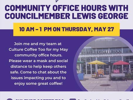 Councilmember Lewis George Office Hours