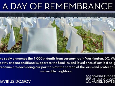 Mayor Bowser Proclaims 'A Day of Remembrance for Lives Lost to COVID-19'