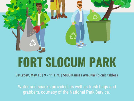 Reminder - Fort Slocum Clean-up on Saturday May 15, 2021 @ 9am
