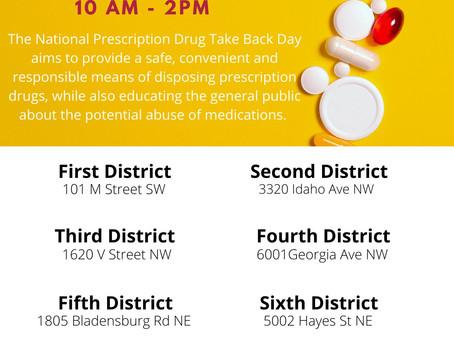 National Prescription Drug Take Back Day - April 24, 2021
