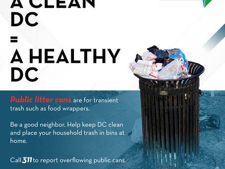 Reminder regarding Litter Cans