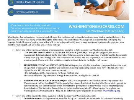 Washington Gas Customer Financial Assistance Flyer