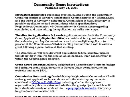ANC 4B Community Grant Instructions