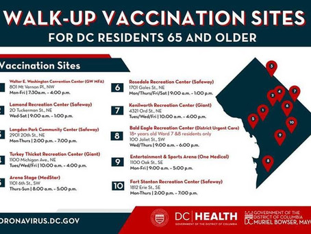 Mayor Calls on Washingtonians to Help Seniors Access Walk-Up, No Appointment Needed Vacc Clinics