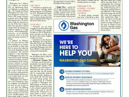 Washington Gas Cares Ad