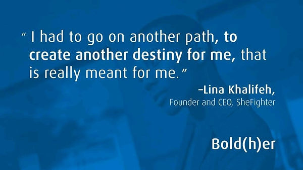 BOLD her Podcast with Lina Khalifeh