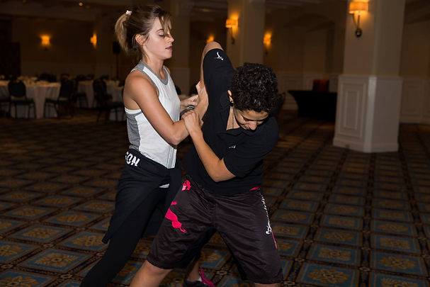 Emma Watson training with Lina