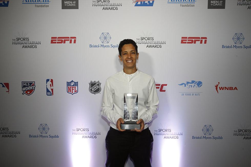 Lina won the ESPN Humanitarian Award 2019