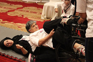 SheFighter training women with disabilities