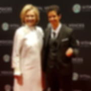 Lina Khalifeh with Hillary Clinton