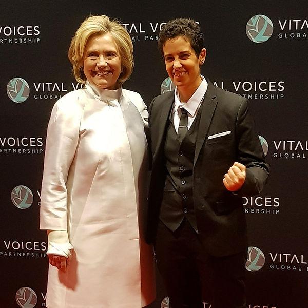 Lina Khalifeh with Hillary Clinton